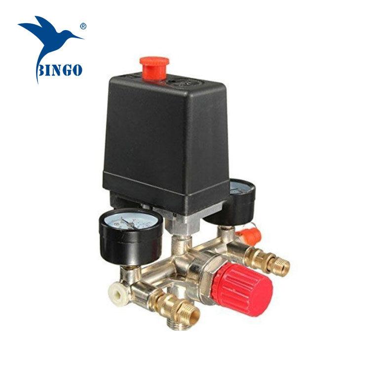 125psi 1 poort luchtcompressor drukschakelaar met regelaarmeters
